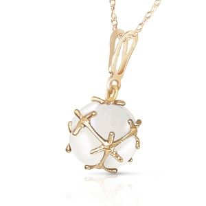 14K. SOLID GOLD NECKLACE WITH NATURAL OPALS